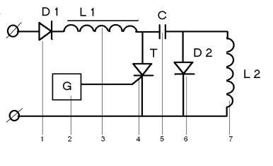Рис.1. Принципиальная схема генератора импульсных токов.